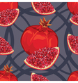 seamless pattern of ripe red garnet vector image vector image