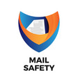 secure mail logo vector image vector image