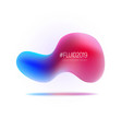 set liquid shapes gradient abstract vector image vector image