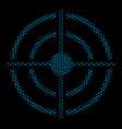 target bullseye composition icon of halftone vector image