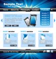 Technology website template vector image