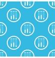 Test-tubes sign blue pattern vector image vector image