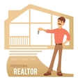 the concept real estate services agent showing vector image