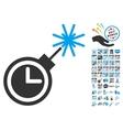 Time Bomb Icon With 2017 Year Bonus Symbols vector image vector image