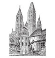 tournai cathedral the encyclopedia britannica vector image vector image