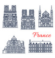 travel landmark of french roman catholic church vector image vector image