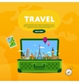 Travel the world Monument concept Road trip vector image vector image