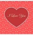 Valentine card with red heart vector image
