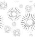 Vintage Linear Sunburst Seamless Pattern vector image