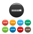 wagons icons set color vector image vector image