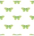 Watercolor butterflies pattern vector image vector image