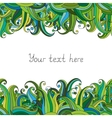 Waves or grass seamless border pattern May be vector image