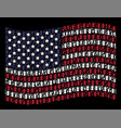 waving american flag stylization of death vector image