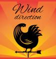weathervane - cock black vector image vector image