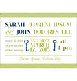 Wedding Invitation Card - Key Theme vector image vector image