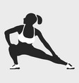 woman fit pose logo and icon sport silhouette vector image vector image