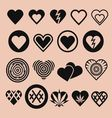 Set of Various Heart Icons vector image