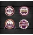 Barbecue BBQ grill logo stamp retro set vector image
