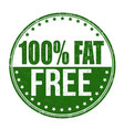 100 fat free grunge rubber stamp vector image vector image