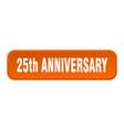 25th anniversary button anniversary square