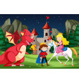 a fantasy fairy tale story scene vector image vector image