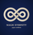 abstract magic eternity paper emblem vector image vector image