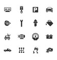 auto icons set vector image vector image