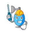 automotive ambu bag mascot cartoon vector image