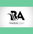 ba b a creative brush black letters design