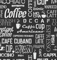 background seamless tile of coffee words and vector image vector image