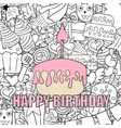 birthday cupcake background happy birthday vector image