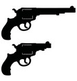 black silhouette two revolvers vector image