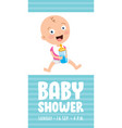 card for bashower event vector image vector image