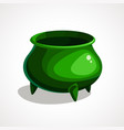 cartoon of green pot vector image vector image