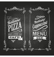 chalk drawings Menu Retro typography vector image vector image