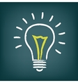 Chalk hand-drawn idea light bulb icon on gradient vector image