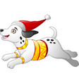 christmas dalmatian dog vector image