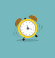 clock alarm clock with shadow wake-up time flat vector image vector image