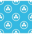 Clover sign blue pattern vector image vector image