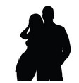 couple silhouette love in black color vector image vector image