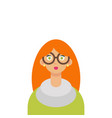 cute young hipster girl with glasses vector image vector image