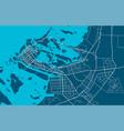 detailed map abu dhabi city linear print map