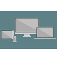 Flat design electronic devices vector image
