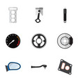 flat icon parts set of input technology belt vector image vector image