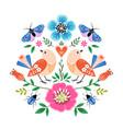 folk style birds art print vector image vector image
