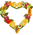 fresh fruit in the form of heart vector image vector image