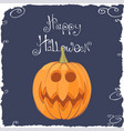 funny pumpkin face for halloween vector image vector image