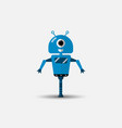 funny robot icon in flat style isolated on vector image vector image