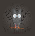 gift postcard with cartoon animal owl decorative vector image vector image