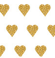 gold heart seamless pattern on white backgroung vector image vector image